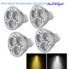 tanie Żarówki LED-YouOKLight 300 lm GU5.3(MR16) Żarówki punktowe LED MR16 3 Diody lED High Power LED Przysłonięcia Dekoracyjna Ciepła biel Zimna biel DC 12V