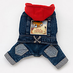 Dog Hoodie Denim Jacket/Jeans Jacket Dog Clothes Cowboy Jeans Blue Costume For Pets