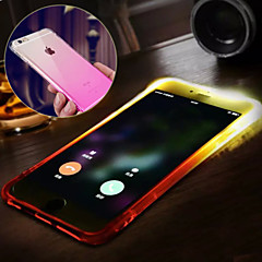 Til iPhone X iPhone 8 iPhone 8 Plus iPhone 6 iPhone 6 Plus Etuier Vandafvisende Blinkende LED-lys Bagcover Etui Farvegradient Blødt TPU