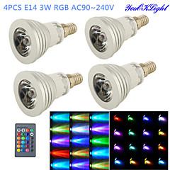 preiswerte LED-Birnen-YouOKLight 260 lm E14 LED Spot Lampen G50 1 Leds Hochleistungs - LED Dekorativ Ferngesteuert RGB Wechselstrom 100-240V