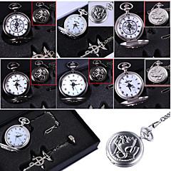 tanie Anime Cosplay-Zegar/zegarek Zainspirowany przez Fullmetal Alchemist Edward Elric Anime Akcesoria do Cosplay Naszyjniki / Zegar/zegarek / pierścieńČerná