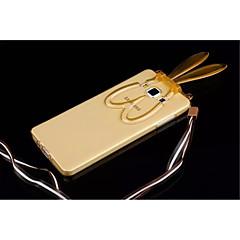 Voor Samsung Galaxy hoesje met standaard / Transparant / Patroon hoesje Achterkantje hoesje 3D cartoon TPU Samsung A8 / A7 / A5