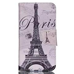 billige Etuier-Til Wiko etui Etuier Med stativ Flip Mønster Heldækkende Etui Eiffeltårnet Hårdt Kunstlæder for Wiko
