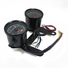 preiswerte Autozubehör-Universal Motorrad Tachometer Kilometerzähler Manometer LED-Anzeige mit Halterung