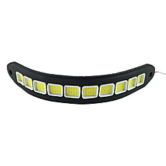 Недорогие Дневные фары-2pcs Автомобиль Лампы 10W COB 900lm 10LED/pcs Светодиодная лампа Фары дневного света