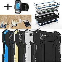 r-solo gundam 100% brazalete de casos vidrio gorila de aluminio de metal a prueba de agua + deportivo para iPhone6 más