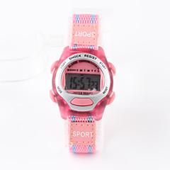 preiswerte Damenuhren-digital Digitaluhr Sportuhr Wasserdicht Stoff Band Charme Modisch Rosa