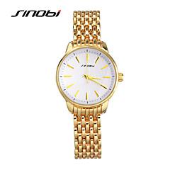 お買い得  メンズ腕時計-SINOBI 女性用 リストウォッチ 耐水 ローズゴールドめっき / 合金 バンド ファッション / エレガント ゴールド / 2年 / Sony SR626SW