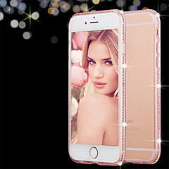 Недорогие Кейсы для iPhone 6-Кейс для Назначение Apple iPhone 8 iPhone 8 Plus iPhone 6 iPhone 6 Plus Стразы Прозрачный Кейс на заднюю панель Сплошной цвет Мягкий ТПУ
