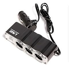 Недорогие Автоэлектроника-1-to-3 usb автомобильный лихтер питания сплиттер (dc 12v) автомобильное зарядное устройство