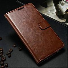 Недорогие Чехлы и кейсы для Galaxy Note 3-Кейс для Назначение SSamsung Galaxy Samsung Galaxy Note Бумажник для карт Кошелек со стендом Флип Чехол Сплошной цвет Кожа PU для Note 3