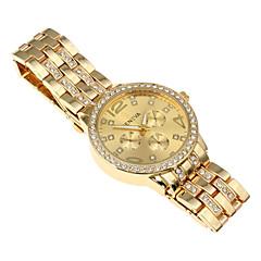 お買い得  レディース腕時計-女性用 クォーツ リストウォッチ 合金 バンド 光沢タイプ シルバー / ゴールド