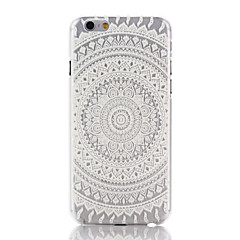Mert iPhone 7 tok / iPhone 7 Plus tok / iPhone 6 tok / iPhone 6 Plus tok Átlátszó / Minta Case Hátlap Case Mandala Kemény PC mert Apple