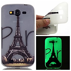 For Samsung Galaxy Case Glow in the Dark / Pattern Case Back Cover Case Eiffel Tower TPU SamsungOn 7 / On 5 / J3 / J1 Ace / Grand Prime /