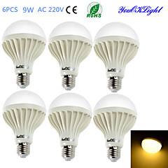E26/E27 LED Globe Bulbs B 15 SMD 5630 700 lm Warm White 3000 K Decorative AC 220-240 V