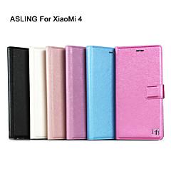Недорогие Чехлы и кейсы для Xiaomi-Кейс для Назначение Xiaomi Кейс для Mi Бумажник для карт со стендом Флип Чехол Сияние и блеск Твердый Кожа PU для