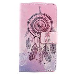 Недорогие Чехлы и кейсы для LG-Кейс для Назначение LG Кейс для LG Бумажник для карт Кошелек со стендом Флип С узором Чехол Ловец снов Твердый Кожа PU для