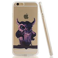 Для Кейс для iPhone 6 / Кейс для iPhone 6 Plus Прозрачный / С узором Кейс для Задняя крышка Кейс для Сова Мягкий TPUiPhone 6s Plus/6 Plus