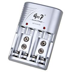 gd-802b 100-240V aa aaa 200mA 200mA * 4 * 4 Europa Standardowa bateria zasilacz ładowarka srebrny