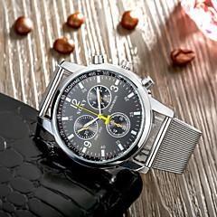 Herre Armbåndsur Quartz Hverdagsklokke Rustfritt stål Band Hvit