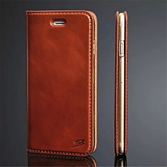 tanie Etui do iPhone 6 Plus-Kılıf Na Apple iPhone 8 iPhone 8 Plus iPhone 6 iPhone 6 Plus Etui na karty Z podpórką Flip Ultra cienkie Pełne etui Solid Color Twarde