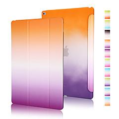 voordelige iPad Air 2 hoesjes-hoesje Voor iPad Air 2 Origami Volledig hoesje Kleurgradatie PU-nahka voor iPad Air 2