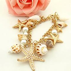 preiswerte Armbänder-Damen Strang-Armbänder - Hülle Seestern Einzigartiges Design, Modisch Armbänder Golden Für Party Alltag Normal