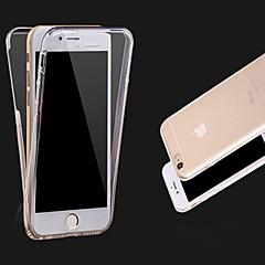 Недорогие Кейсы для iPhone 6-Кейс для Назначение Apple iPhone X iPhone 8 iPhone 8 Plus iPhone 6 iPhone 6 Plus Прозрачный Чехол Сплошной цвет Мягкий ТПУ для iPhone X