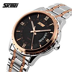 cheap Watch Deals-SKMEI Men's Quartz Japanese Quartz Wrist Watch Calendar / date / day Water Resistant / Water Proof Stainless Steel Band Charm Silver