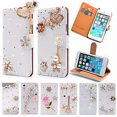 Недорогие Кейсы для iPhone 6 Plus-Для Кейс для iPhone 6 / Кейс для iPhone 6 Plus Бумажник для карт / Стразы / со стендом / Флип Кейс для Чехол Кейс для Сияние и блеск