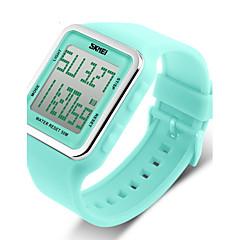 お買い得  メンズ腕時計-SKMEI 女性用 デジタルウォッチ / スポーツウォッチ アラーム / カレンダー / クロノグラフ付き ラバー バンド キャンディ / ファッション ブラック / ブルー / グリーン