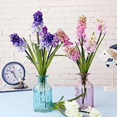 폴리에스터 바이올렛 인공 꽃