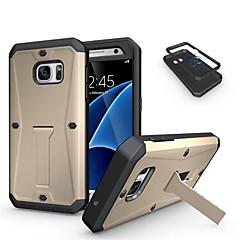 For Samsung Galaxy etui Stødsikker Med stativ Etui Bagcover Etui Armeret PC for Samsung S7 S6