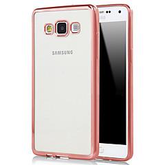 billige Galaxy A7 Etuier-For Samsung Galaxy etui Belægning Transparent Etui Bagcover Etui Helfarve TPU for Samsung A7(2016) A5(2016) A9 A8 A7 A5