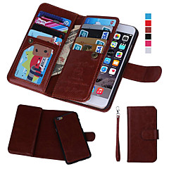 billige iPhone 5-etuier-Etui Til Apple iPhone 8 iPhone 8 Plus iPhone 6 iPhone 6 Plus iPhone 7 Plus iPhone 7 Kortholder Pung Med vindue Flip Fuldt etui Helfarve