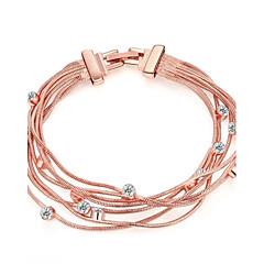 preiswerte Armbänder-Damen Ketten- & Glieder-Armbänder - Roségold, Strass, Rose Gold überzogen Modisch Armbänder Gold Für Hochzeit Party Alltag / Diamantimitate