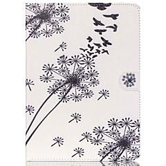 Недорогие Чехлы и кейсы для Galaxy Tab 4 10.1-Кейс для Назначение Samsung Бумажник для карт Кошелек со стендом С узором Авто Режим сна / Пробуждение Чехол Цветы Твердый Кожа PU для
