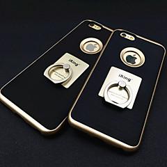 Недорогие Кейсы для iPhone 6-Кейс для Назначение Apple iPhone 6 iPhone 6 Plus Кольца-держатели Кейс на заднюю панель Сплошной цвет Твердый Металл для iPhone 6s Plus