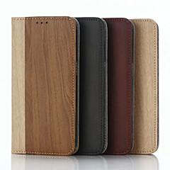 Недорогие Чехлы и кейсы для Galaxy Note 5-Для Samsung Galaxy Note Чехлы панели Кошелек Бумажник для карт со стендом Флип Чехол Кейс для Полосы / волосы Искусственная кожа для