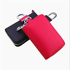 abordables Llaveros-tanto los hombres como las mujeres pueden pegarse cruz cuero repujado bolso de la llave del coche / coche paquete remoto