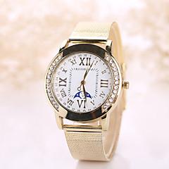 Dames Dress horloge Modieus horloge Polshorloge Vrijetijdshorloge Kwarts imitatie Diamond Vrijetijdshorloge Roestvrij staal BandVintage