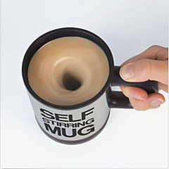 kendini karıştırma kahve kupa, otomatik karıştırma çay bardağı ofis komik hediye karıştırma içecekler