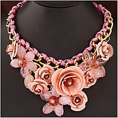 preiswerte Halsketten-Damen Geflochten / Anhängerketten Anhängerketten / Statement Ketten  -  Blume Luxus Grün, Rosa, Regenbogen Modische Halsketten Für Party, Besondere Anlässe, Geburtstag