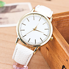 preiswerte Damenuhren-Damen Armbanduhr Schlussverkauf Leder Band Charme / Modisch Schwarz / Weiß / Braun / Ein Jahr / SSUO LR626