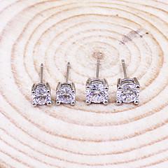 2016 Korean Unisex 925 Silver Sterling Silver Jewelry Earrings Sample Stud Earrings 1Pair