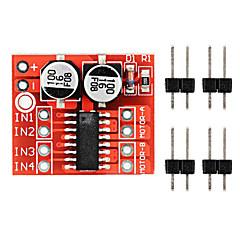 voordelige Accessoires-2 ~ 10v dual h-brug motor driver module over-bescherming tegen hitte pwm snelheid aan te passen