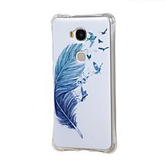 For Huawei etui Stødsikker Etui Bagcover Etui Fjer Blødt TPU for Huawei Huawei Y6 / Honor 4A Huawei Honor 5X