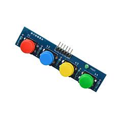 お買い得  センサー-青PI-arduinoの+ラズベリーのための4キーボタンモジュールセンサー外付けキーボードモジュール