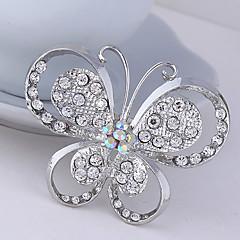 düğün dekorasyon eşarp, güzel takı, rastgele renk kadınların kristal kelebek hayvan broş