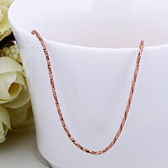preiswerte Halsketten-Damen Ketten - 18K vergoldet, Rose Gold überzogen Schlange Kette, Grundlegend, Hip-Hop Gold 46+5 cm Modische Halsketten Für Strasse, Klub